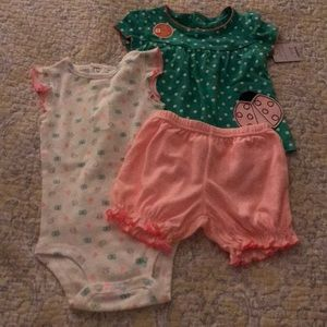 NWT Just One You Carter's 3 piece set 12 m Girls